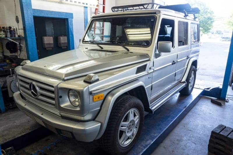 G Wagon European Car getting Serviced at Newport Auto, Squamish