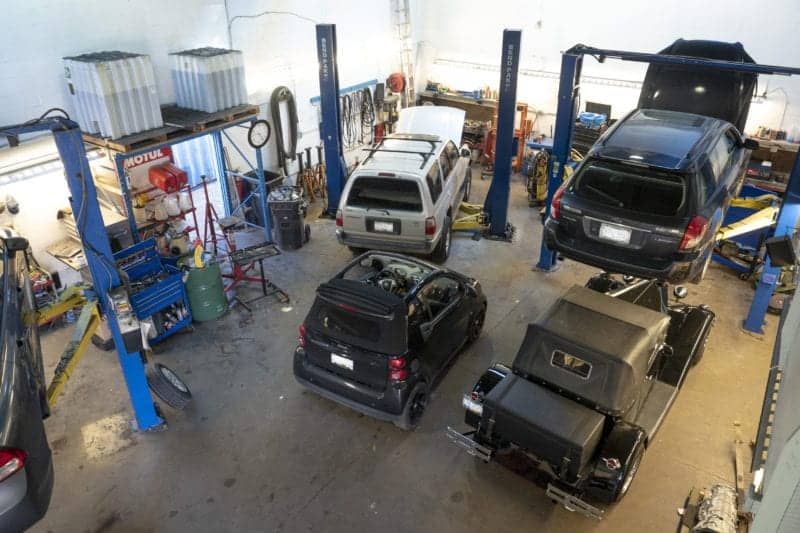 Newport Auto Squamish Mechanic working on cars and trucks